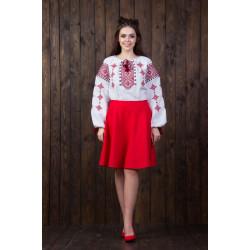 Вишита жіноча блуза з національним орнаментом (2-х кольорів)