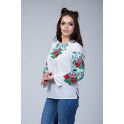Жіноча вишита блуза з квітковим орнаментом ... 0f0a7650cf445