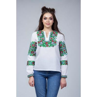 ea0eb75ffd8 Вышитая блуза с флористическим орнаментом Вышитая блуза с флористическим  орнаментом
