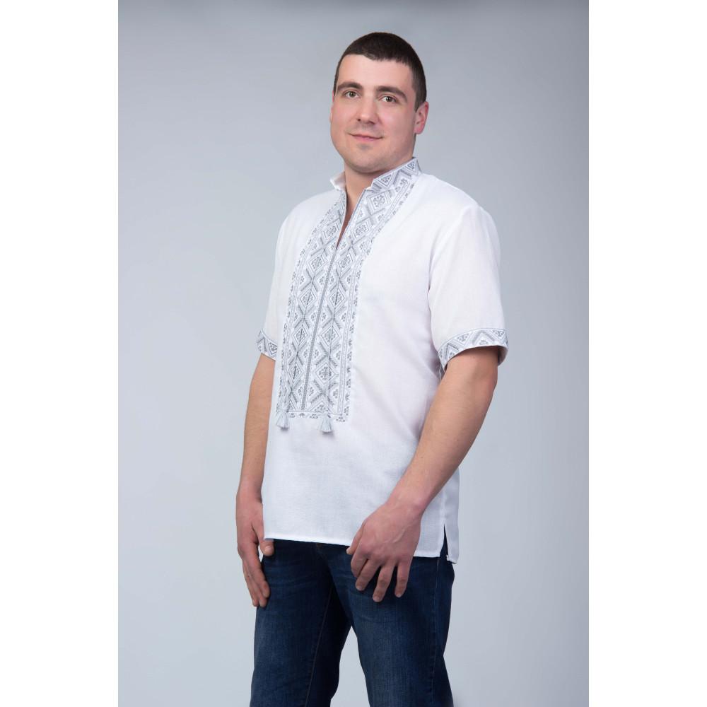 Чоловіча вишита сорочка з сіркою вишивкою - від виробника Magtex 874487043d6da