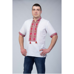Чоловіча сорочка з червоним візерунком ... 03885fa3a2b80
