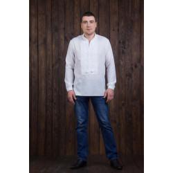 Чоловіча сорочка з білою вишивкою