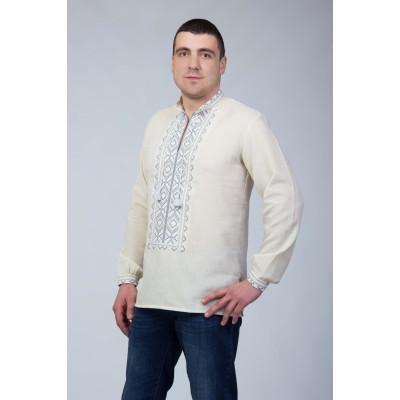 Чоловіча сорочка  з сіркою вишивкою