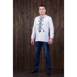 Чоловіча сорочка з вишивкою національних кольорів ... b25002d440188