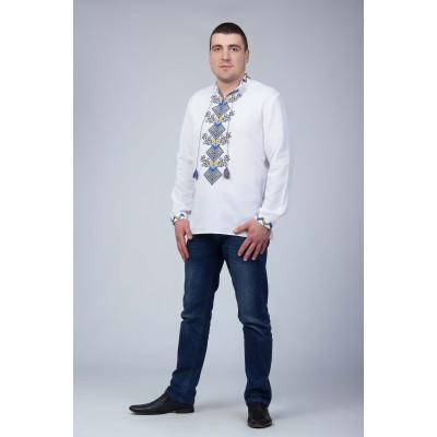 Чоловіча сорочка з вишивкою національних кольорів