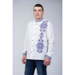 Чоловіча вишита сорочка з орнаментом
