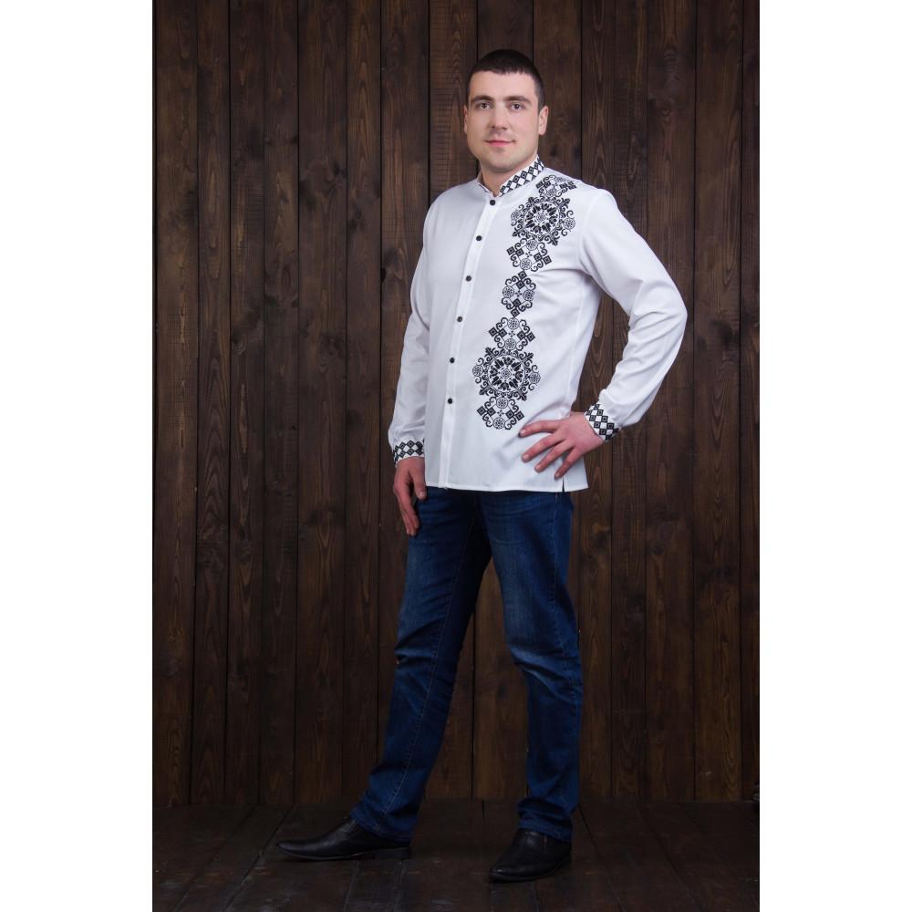 Чоловіча вишита сорочка з орнаментом - від виробника Magtex ba69ffce3120a