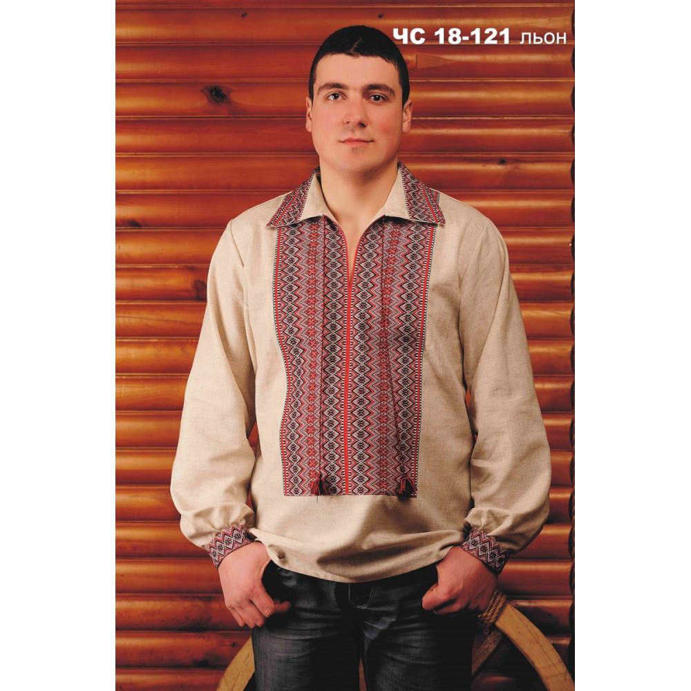 Чоловіча вишита сорочка з льону - від виробника Magtex c1c4bf139ee74