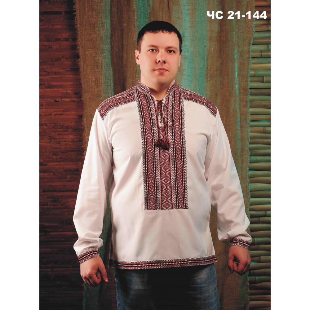 Чоловіча біла сорочка з вишивкою - від виробника Magtex d590bfde31bd0