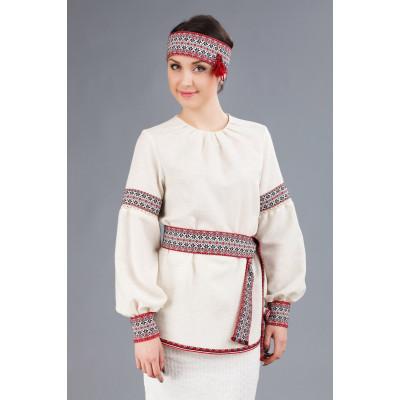 Жіноча вишита блуза подовженого крою