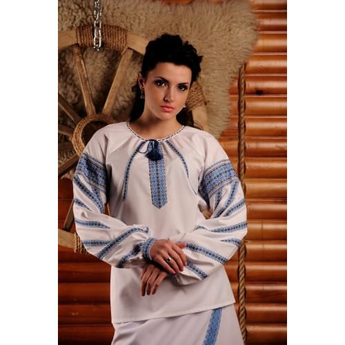 Жіноча подовжена блуза з вишивкою