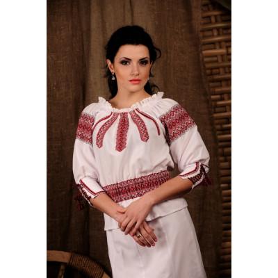 Женская вышиванка с поясом-резинкой