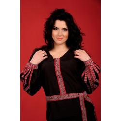 Стильна жіноча вишиванка чорного кольору