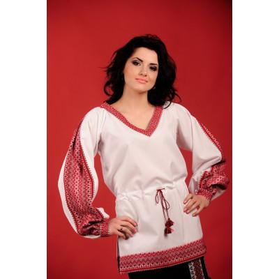 Жіноча вишита блуза білого кольору