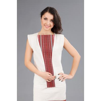 Жіноча вишита блуза без рукавів