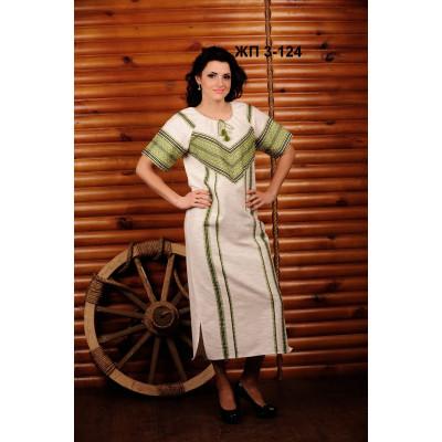 Довге жіноче плаття з вишивкою