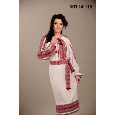 Вишитий жіночий одяг з червоним національним орнаментом