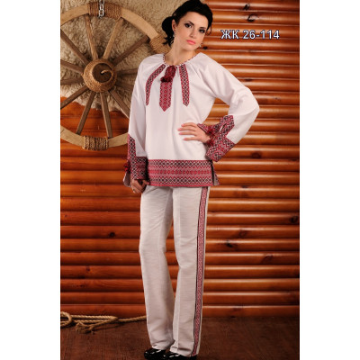 Брючний жіночий костюм з вишивкою