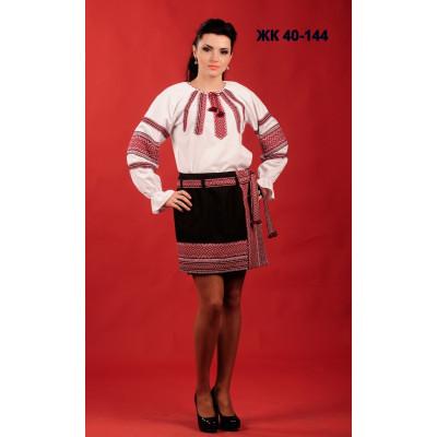 Жіночий вишитий костюм з короткою спідницею