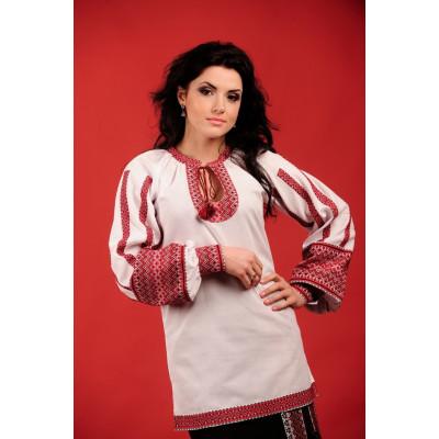 Жіноча вишита блуза біла
