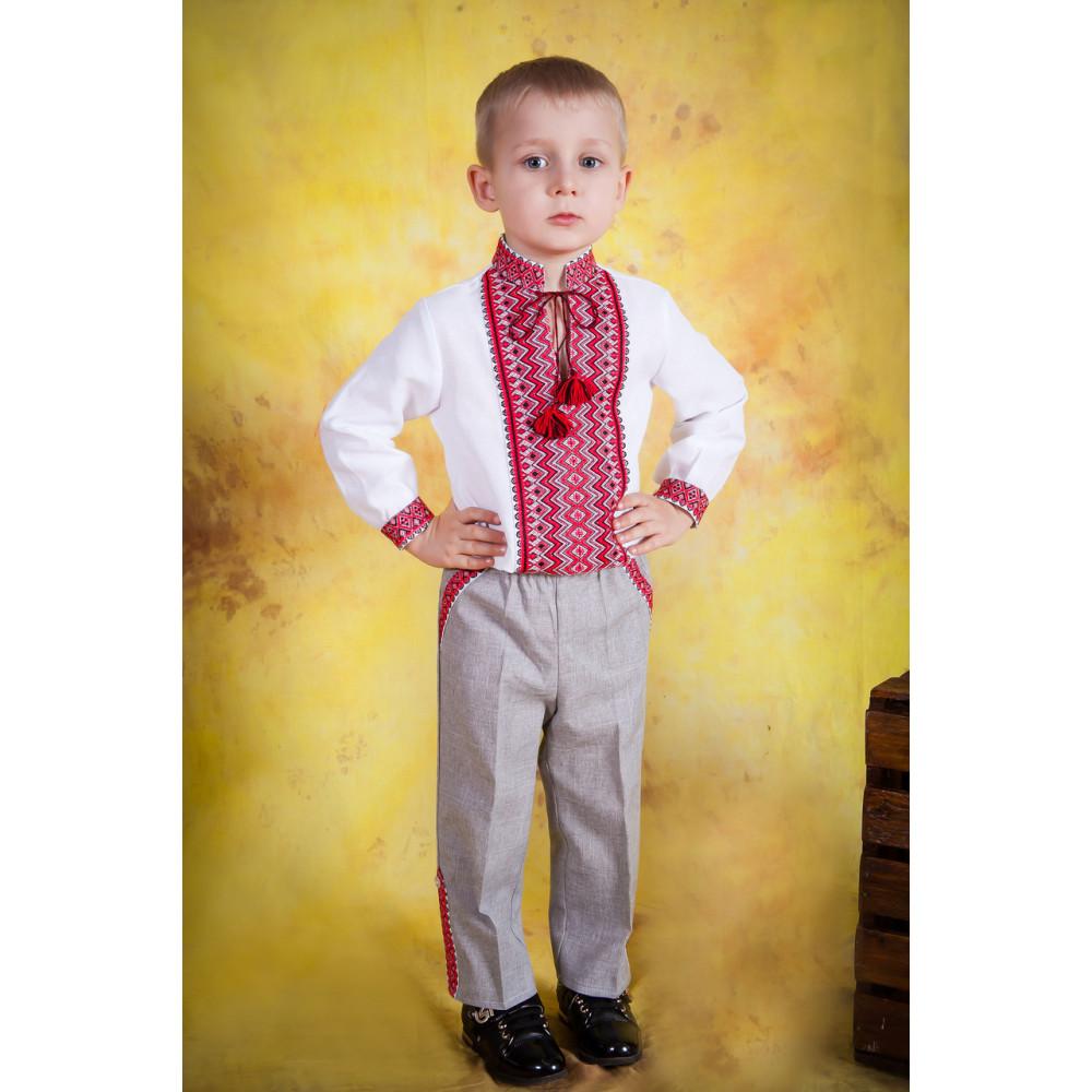 Вишиванка дитяча для хлопчика з національним орнаментом - Magtex 6f8e9d3e1dcac
