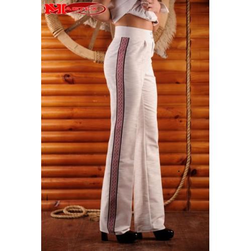 Жіночі штани з вишивкою