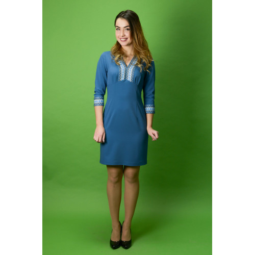 Вишитий стильне плаття ЖП-36