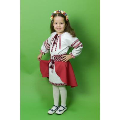 Вишитий костюм для дівчинки ДК-14
