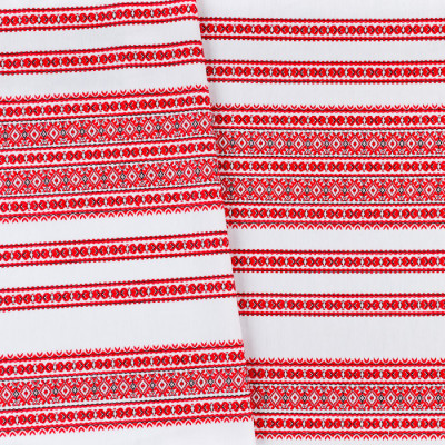 Декоративна красива тканина вишита національним орнаментом ТД-59 1 \ 1