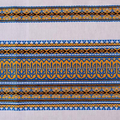 Декоративна якісна тканина вишита національним орнаментом ТД-17