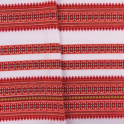 Декоративна якісна тканина з українським візерунком ТД-6