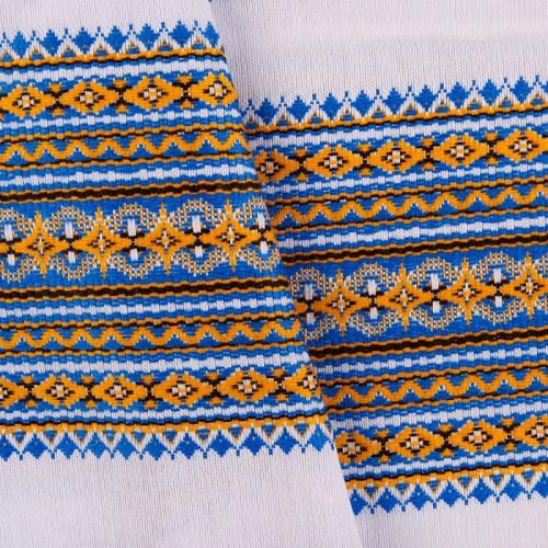 Декоративна якісна тканина вишита національним орнаментом ТД-17 (1)