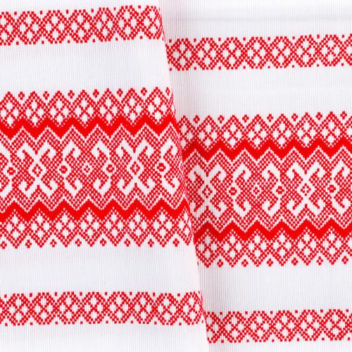 Красива тканину декоративна з українським орнаментом ТД-58 1 \ 2