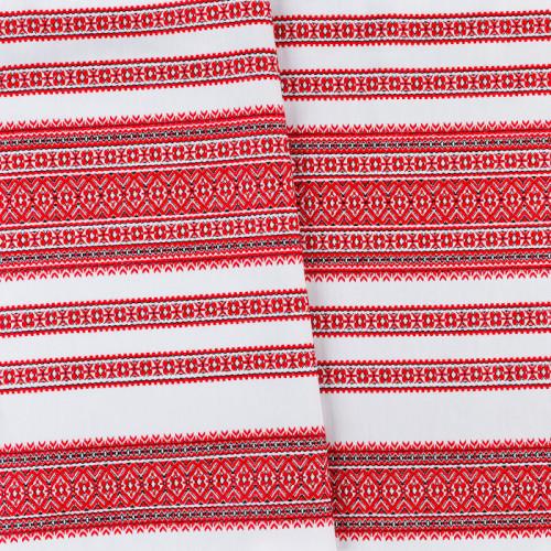 Декоративна красива тканина вишита національним орнаментом ТД-59 2 \ 1