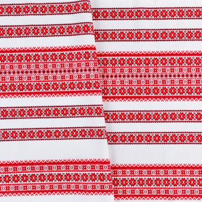 Декоративна красива тканина вишита національним орнаментом ТД-59 3 \ 1