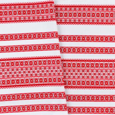 Декоративна красива тканина вишита національним орнаментом ТД-59 4 \ 1