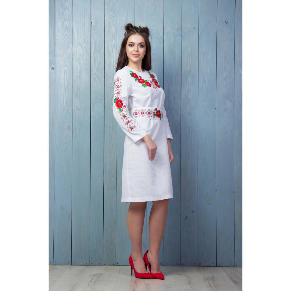 bbbb3e552c6 Белое платье с флористическим узором - от производителя Magtex